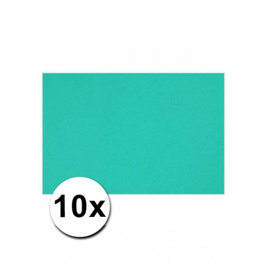 10 oceaan blauwe kartonnen vellen A4 (bron: Sinterklaas-feestwinkel)