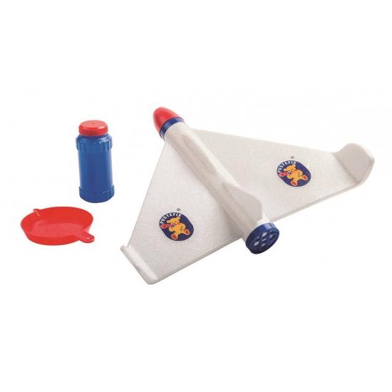Bellenblaas vliegtuigje met vloeistof