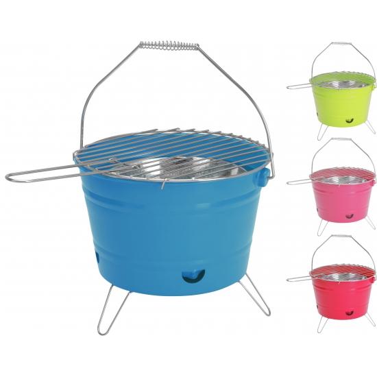 Blauwe barbecue emmer 28 cm