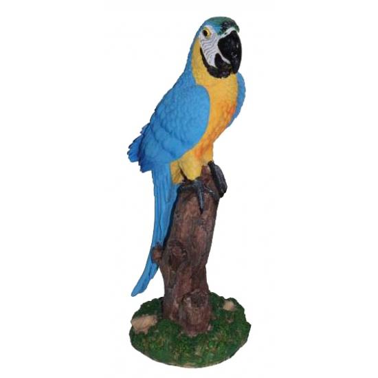 Blauwe decoratie papegaai 32 cm (bron: Sinterklaas-feestwinkel)