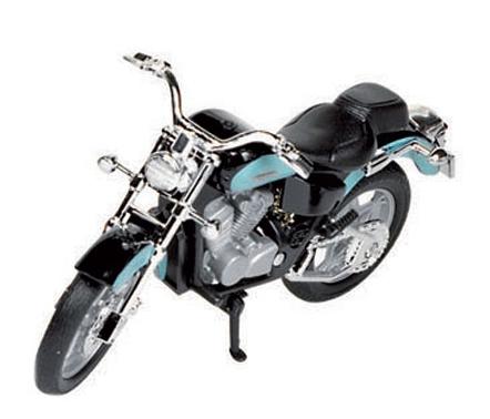 Blauwe Honda shadow race motor (bron: Sinterklaas-feestwinkel)
