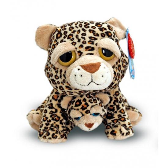 Cheetah met baby knuffel 25 cm (bron: Sinterklaas-feestwinkel)