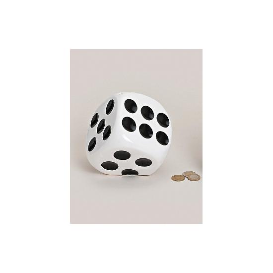 Dobbelstenen spaarpotten wit (bron: Sinterklaas-feestwinkel)