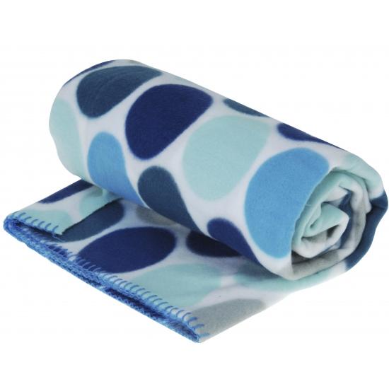 Fleece deken blauwe stippen