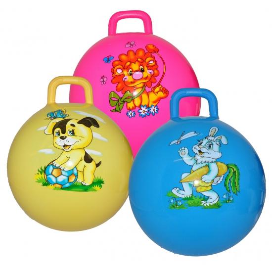 Gele skippyballen met hond (bron: Sinterklaas-feestwinkel)