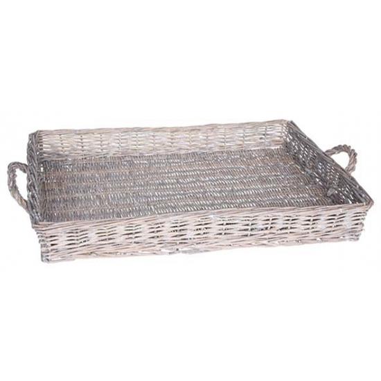 Grey wash dienblad met handvaten 59 cm