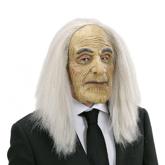 Griezelige oude man masker en pruik