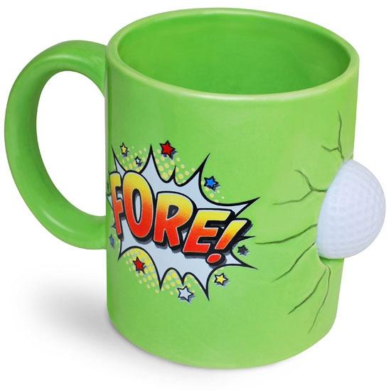 Groene mok golfspeler 600 ml (bron: Sinterklaas-feestwinkel)