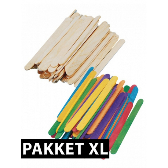 Groot knutselhoutjes pakket (bron: Sinterklaas-feestwinkel)