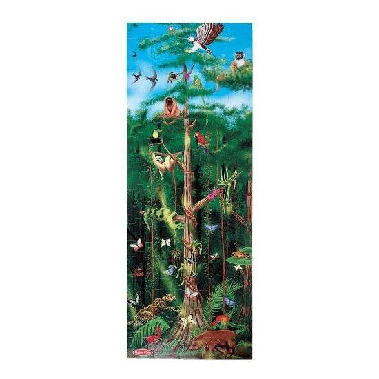 Grote puzzel met regenwoud afbeelding