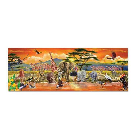 Grote puzzel met safari afbeelding
