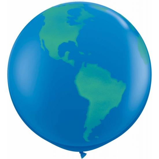 Grote wereldbol ballon 91 cm