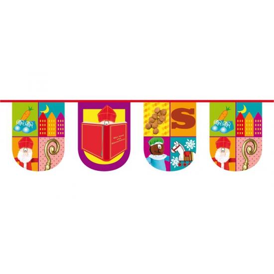 Halfronde vlaggenlijn trendy Sinterklaas
