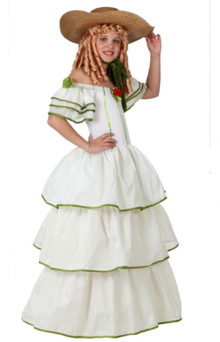 Historische meisjes jurk (bron: Sinterklaas-feestwinkel)