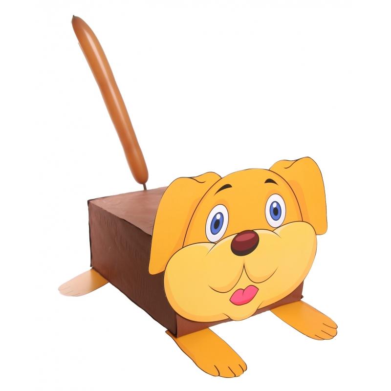 Hond suprise knutselen DIY pakket (bron: Sinterklaas-feestwinkel)