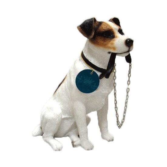 Honden beeldje Jack Russel met riem 15 cm