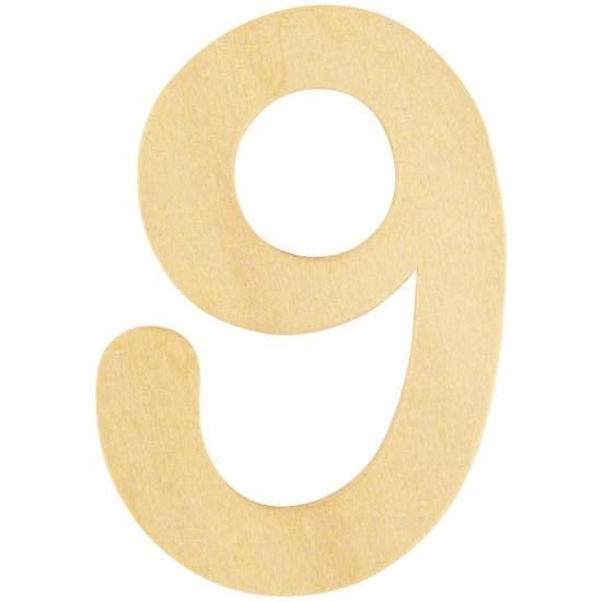 Houten cijfertje 9 (bron: Sinterklaas-feestwinkel)