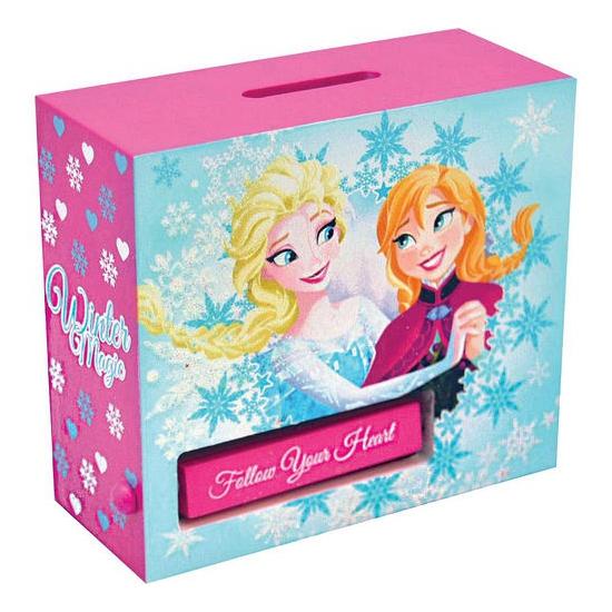 Houten Frozen spaarpot (bron: Sinterklaas-feestwinkel)