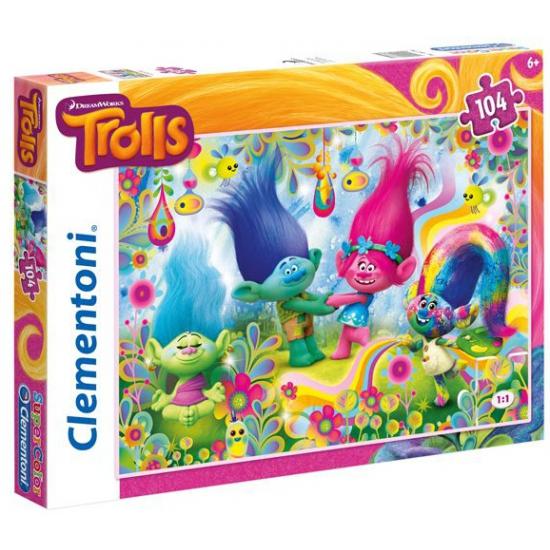 Kinder trollen puzzel 104 delig