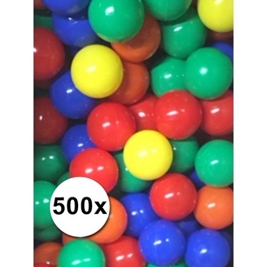 Kleurige ballenbak ballen 500 stuks (bron: Sinterklaas-feestwinkel)