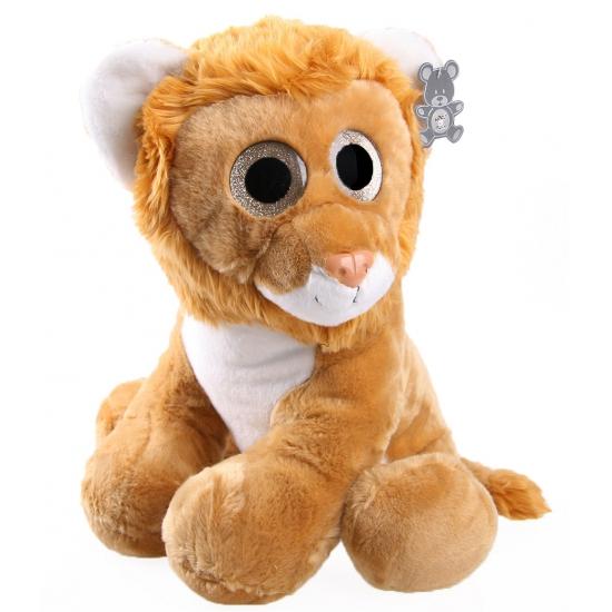 Knuffel leeuwen welp met glitter ogen 40 cm