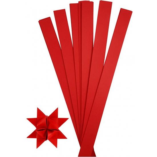 Knutselmateriaal papierstroken rood 73 cm