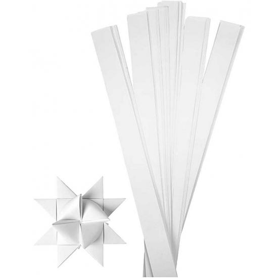 Knutselmateriaal papierstroken wit 73 cm