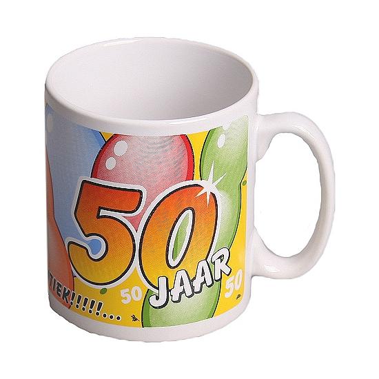 Koffie mok ballonnen 50 jaar