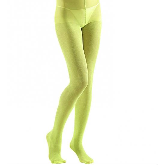 Limoen groene glans panty