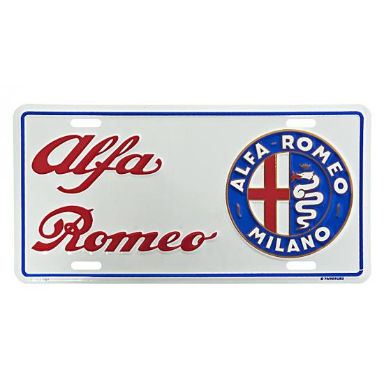 Muurplaatje Alfa Romeo (bron: Sinterklaas-feestwinkel)