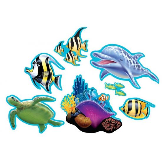 Oceaan thema decoraties 7 stuks (bron: Sinterklaas-feestwinkel)