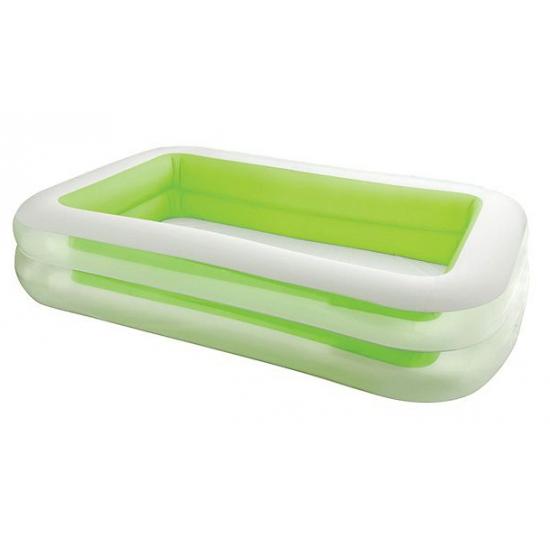 Opblaasbaar familie zwembad groen