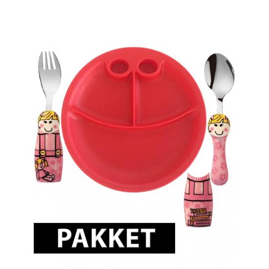 Peuters ontbijtservies voor meiden (bron: Sinterklaas-feestwinkel)