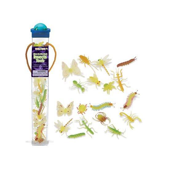 Plastic insecten dieren glow in the dark 18 stuks (bron: Sinterklaas-feestwinkel)