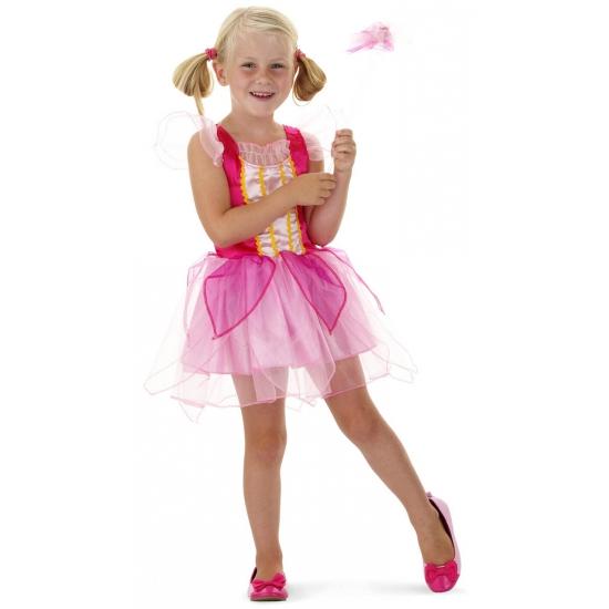 Roze prinsessen outfit met toverstaf (bron: Sinterklaas-feestwinkel)