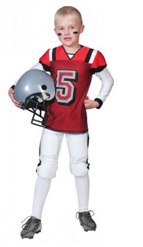 Rugby kostuum rood met wit voor kids (bron: Sinterklaas-feestwinkel)