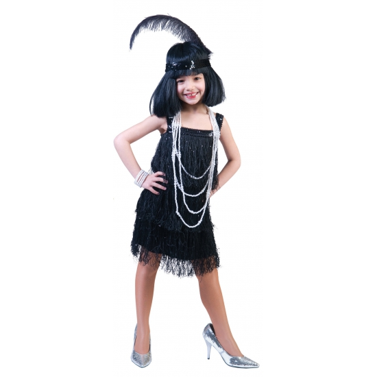 Showgirl jurkje voor meisjes (bron: Sinterklaas-feestwinkel)