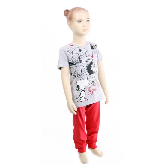 Snoopy pyjama rood en grijs