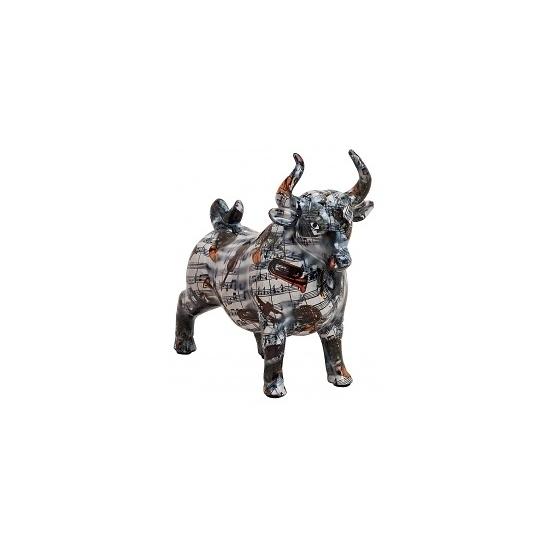 Spaarpot zwarte stier met muziekinstrumenten