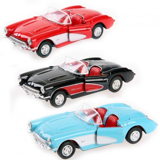 Speelgoed auto Chevrolet Corvette 1957 cabrio (bron: Sinterklaas-feestwinkel)