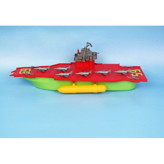Speelgoed vliegdekboot (bron: Sinterklaas-feestwinkel)