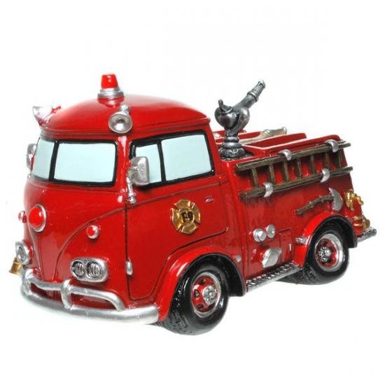 Stenen spaarpot brandweerauto (bron: Sinterklaas-feestwinkel)