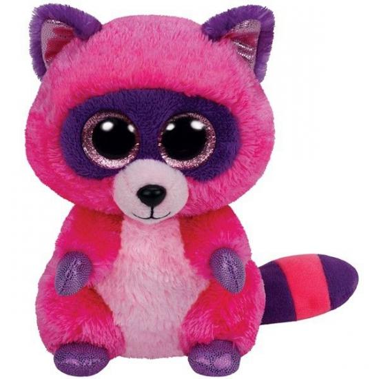 Ty Beanie knuffel roze wasbeer 15 cm (bron: Sinterklaas-feestwinkel)