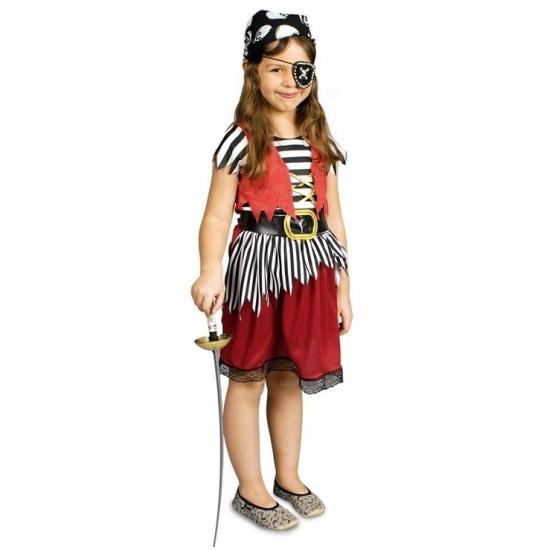 Voordelig piratenpakje voor meisjes (bron: Sinterklaas-feestwinkel)