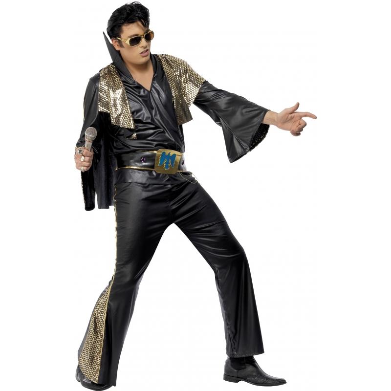 Zwart met goud Elvis Presley pak (bron: Sinterklaas-feestwinkel)