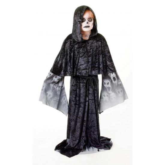 Zwarte zombie cape voor kinderen (bron: Sinterklaas-feestwinkel)