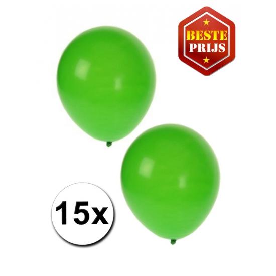 15 stuks groene ballonnen