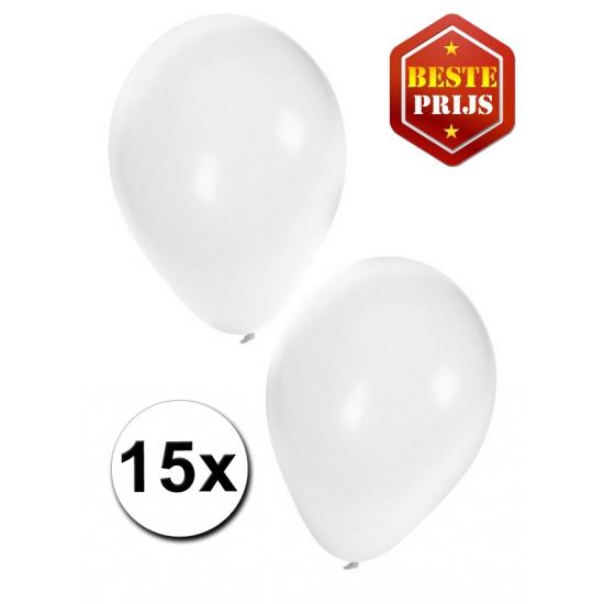 15 stuks witte ballonnen