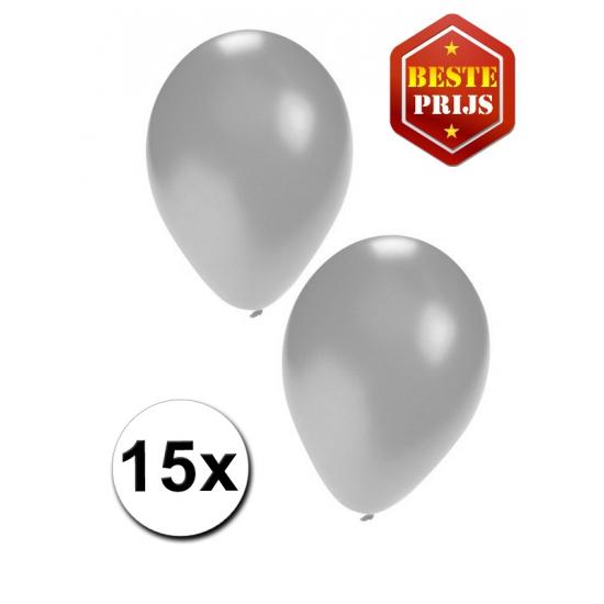 15 stuks zilveren ballonnen