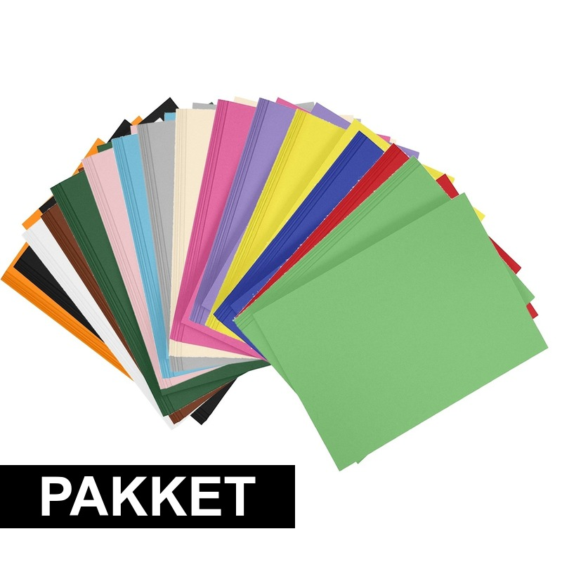 24x A4 hobbykarton in alle kleuren